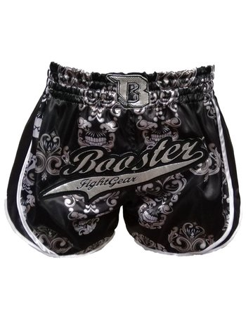 Booster Booster Muay Thai Shorts Retro Skull Black