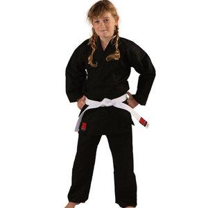 Essimo Essimo Karate suit Kensu Black Karate Gi with white belt