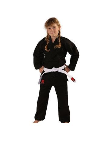 Essimo Essimo Karate Anzug Kensu Black Karate Gi mit weißem Gürtel