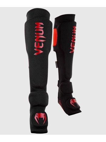 Venum Venum KONTACT EVO Beinschutz Schwarz Rot