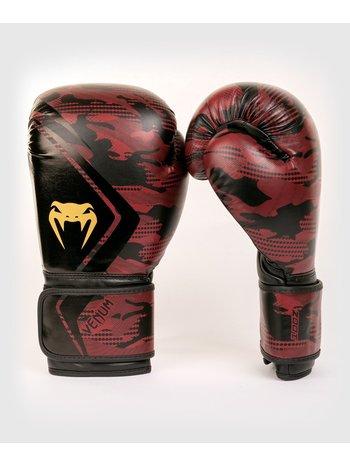 Venum Venum Defender Boxing Gloves Black Red Camo