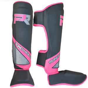 Punch Round™  Punch Round Kickboxing Shinguards Evoke Black Pink
