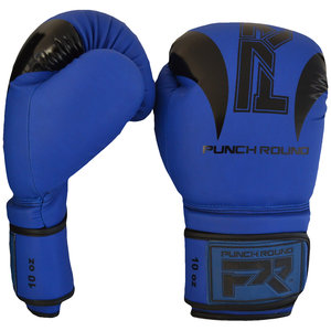 """Punch Round™  Punch Round """"SLAM"""" Boxing Gloves Dull Blue Black"""