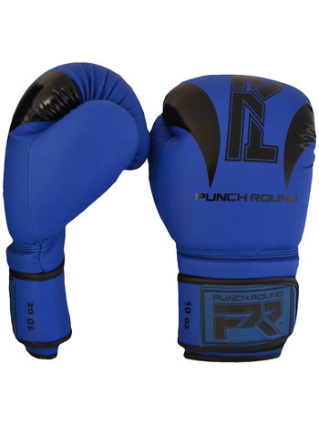 """PunchR™  Punch Round Bokshandschoenen """"SLAM"""" Mat Blauw Zwart"""
