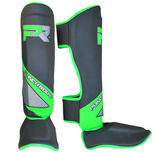 Punch Round™  Punch Round Kickboxing Shinguards Evoke Black Green