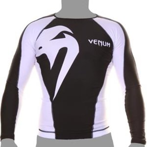 Venum Venum Giant Rash Guard L/S Zwart Wit