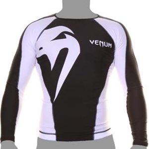 Venum Venum Giant Rashguard L/A Schwarz Weiss