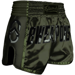 8 Weapons 8 Wapens Muay Thai Short Carbon Noir Olive Green