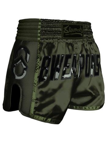 8 Weapons 8 Wapens Muay Thai Short Carbon Noir Olive Green