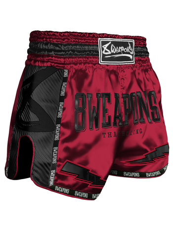 8 Weapons 8 Wapens Muay Thai Short Carbon Red Dawn