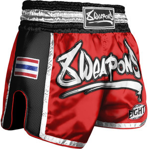 8 Weapons 8 Weapons Muay Thai Short Super Mesh Rood Zwart