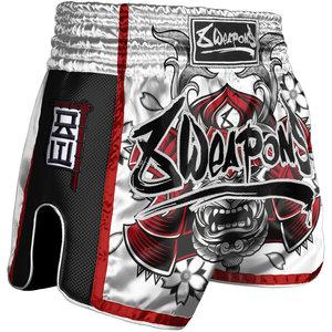 8 Weapons 8 Wapens Muay Thai Short Super MeshSamurai White Red
