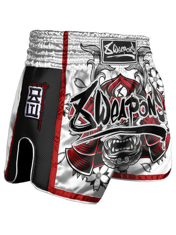 8 Weapons 8 Weapons Muay Thai Short Super Mesh Samurai Wit Rood