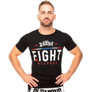 8 Weapons 8 Weapons T Shirt The Fight Zwart