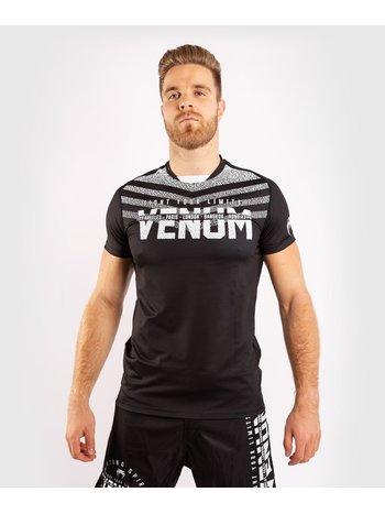 Venum Venum SIGNATURE Dry Tech T-shirt Zwart Wit