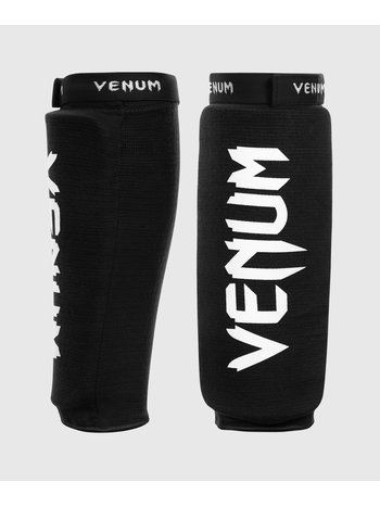 Venum Venum Kontact Shinguards Black White without Feet