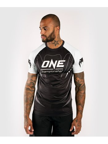 Venum Venum X ONE FC Dry Tech T-Shirt Schwarz Weiss