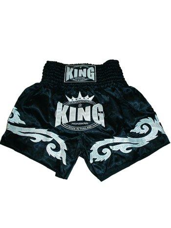 King Pro Boxing King KTBS-07 Muay Thai Shorts Schwarz