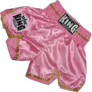 King Pro Boxing King KTBS-20 Ladies Kickboxing Shorts Pink Gold