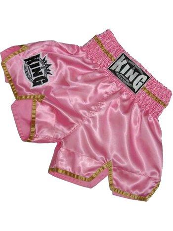 King Pro Boxing King KTBS-20 Damen Kickboxing Short Rosa Gold