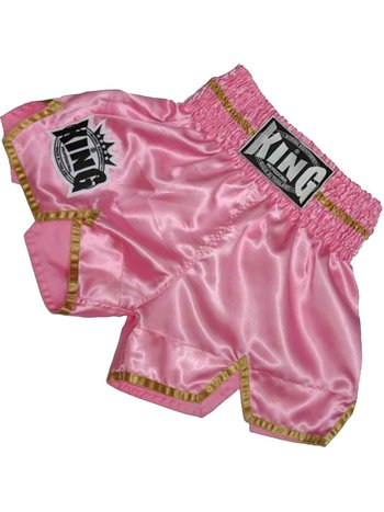 King Pro Boxing King KTBS-20 Ladies Kickboxing Shorts Pink Gold
