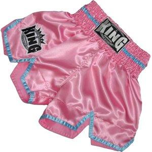 King Pro Boxing King KTBS-20 Ladies Kickboxing Shorts Pink Blue