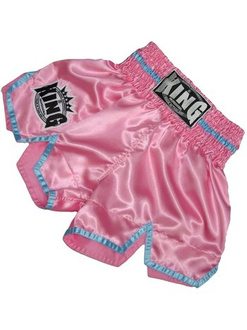 King Pro Boxing King KTBS-20 Ladies Kickboxing Shorts Pink Blue