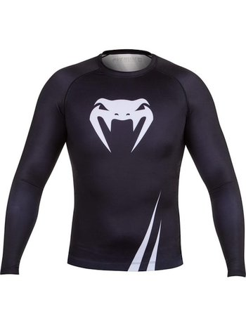 Venum Venum Challenger Rash Guard L/S Black White