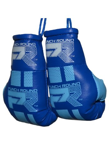 PunchR™  Punch Round Mini Carhanger Boxing Gloves Blue White
