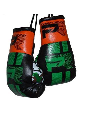 PunchR™  Punch Round Mini Carhanger Boxing Gloves Black Green Orange