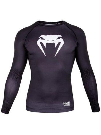 Venum Venum Contender 3.0 Compression T Shirts L/S Black White