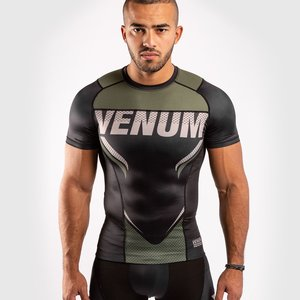 Venum Venum ONE FC Impact Rashguard S / S Zwart Kaki