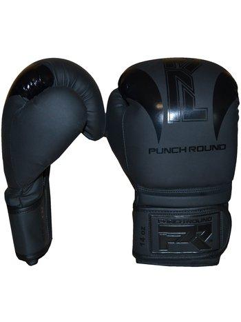 """Punch Round™  Punch Round Bokshandschoenen """"SLAM"""" Zwart op Zwart"""