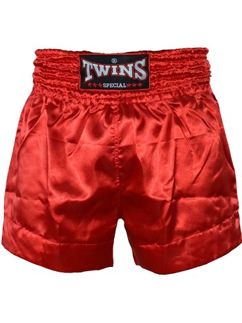 Twins Special Twins Muay Thai Kickboxing Shorts TTE 005 Red