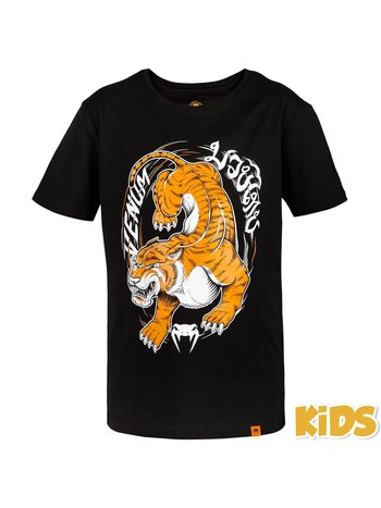 Venum Venum Tiger King Kinder T-Shirt Schwarz