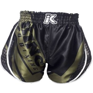 King Pro Boxing King Stormking 1 Muay Thai Kickboxing Shorts Black Green