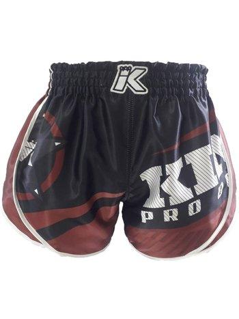King Pro Boxing King Stormking 2 Muay Thai Kickboxing Shorts Black Brown