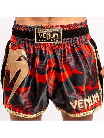 Venum Venum Giant Camo Muay Thai Kickboxing Shorts Red Gold