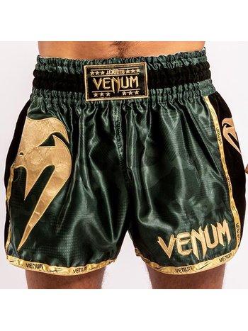 Venum Venum Giant Camo Muay Thai Kickboxing Shorts Khaki Gold