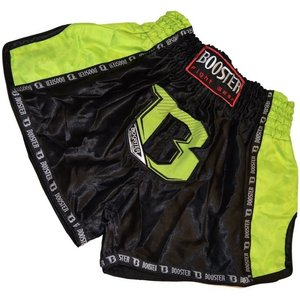 Booster Booster Muay Thai Short TBT Pro Black Neo Yellow Kickboxing Shorts