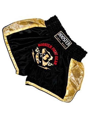 Booster Booster Muay Thai Short TBT Pro 4.4 Black Gold Kickboxing Shorts