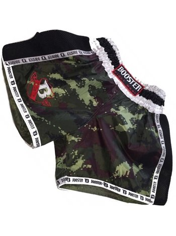 Booster Booster Muay Thai Short TBT Pro 4.22 Camo Green Kickboxing Shorts