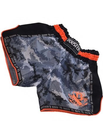 Booster Booster Muay Thai Short TBT Pro 4.23 Camo Grey Orange