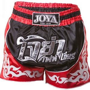Joya Fight Wear Joya Muay Thai Kickboks Broek 55 Zwart Rood
