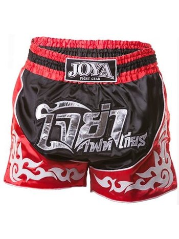 Joya Fight Wear Joya Muay Thai Kickboxing Short 55 Black Red