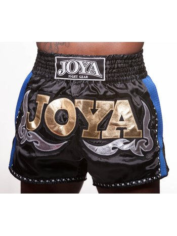 Joya Fight Wear Joya Muay Thai Kickboxing Short 56 Black Blue