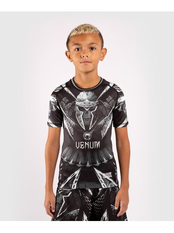 Venum Venum Kids GLDTR 4.0 Rash Guard  Zwart Wit