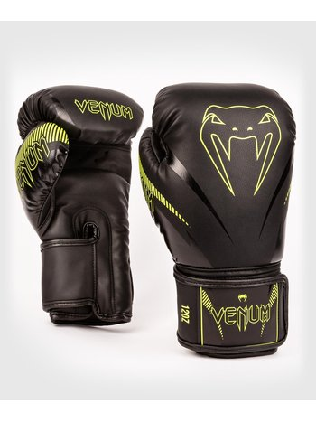 Venum Venum Impact Muay Thai Bokshandschoenen Zwart Neo Geel