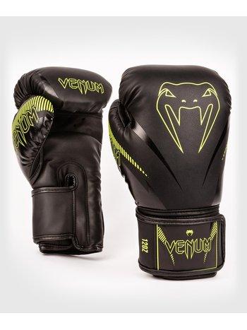Venum Venum Impact Muay Thai Boxing Gloves Black Neo Yellow