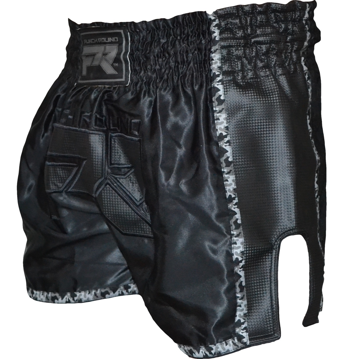 Punch Round Kickboxing Shorts Dull Carbon Camo